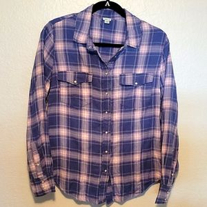 Aerie Button Down Snap Flannel